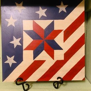 Other - Wooden American flag plaque.🇺🇸